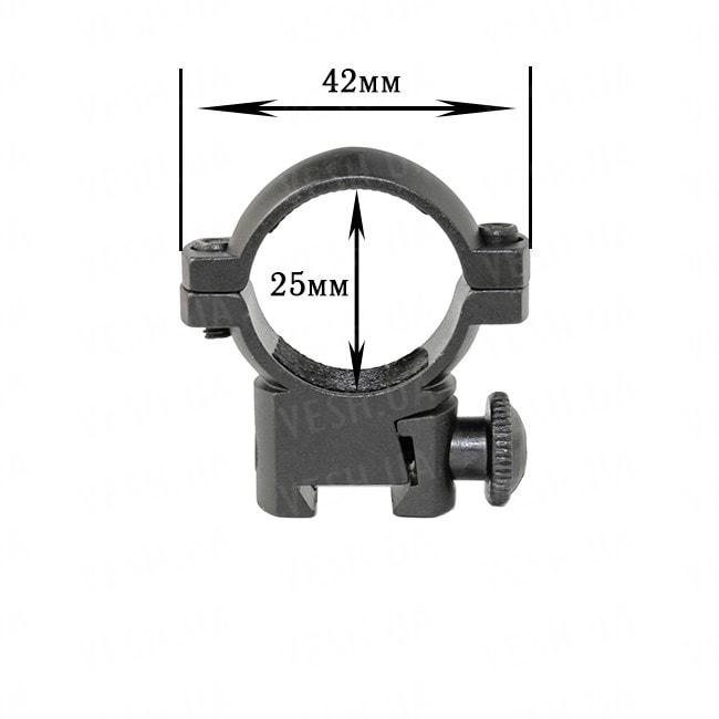 Крепление на оружие для фонаря 25-Z (планка Вивера 11 мм)