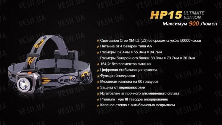 Фонарь Fenix HP15UE Cree XM-L2(U2)