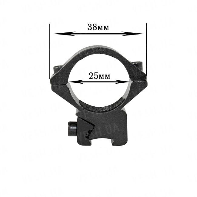 Крепление на оружие для фонаря 25 DZ (планка Вивера 9 мм)