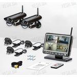 2-х камерная цифровая беспроводная система видеонаблюдения Danrou KCM-6370DRх2 (с шифрованием сигнала)