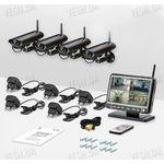 4-х камерная цифровая беспроводная система видеонаблюдения Danrou KCM-6370DRх4 (с шифрованием сигнала)
