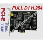 8-ми канальная FULL D1 H.264 компьютерная PCI-E плата видеозахвата для CCTV камер + 4 звуковых канала + ТВ выход (100 fps)