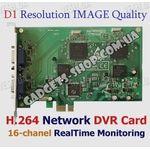 16-ти канальная FULL D1 H.264 компьютерная PCI-E плата видеозахвата для CCTV камер, без звука (400 fps)