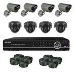 Супербюджетный 8-ми камерный комплект видеонаблюдения (4 внутренних + 4 уличные камеры)