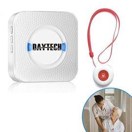 Беспроводная кнопка вызова медсестры для пожилых людей Daytech CC01 до 150 метров, белая, фото 1