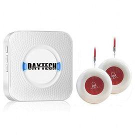 Беспроводная система вызова медперсонала с 2-мя кнопками Daytech CC02 до 150 метров, белая, фото 1
