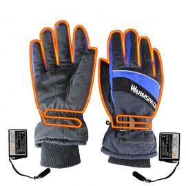 Зимние перчатки с подогревом термо лыжные Luckstone Warmspace HE329 с аккумуляторами, размер L, синие, фото 1
