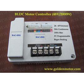 Контроллер 100А 24В/36В/48В/60В до 2000Вт к моторам BLDC серия BAC-0501, фото 1