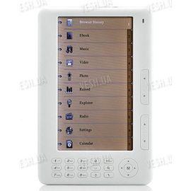 Портативная электронная книга eBook reader с 7-ми дюймовым LCD экраном и расширенной функциональностью (модель DFE7001), фото 1