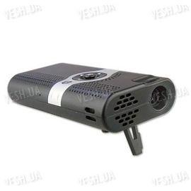 Портативный автономный цифровой мини LED проэктор, совместимый с Iphone, якростью 6 люмен с размером изображения до 54 дюймов (модель MP-01), фото 1