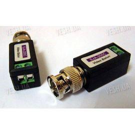 Пассивный BNC комплект приёмо-передачи видеосигнала по витой паре - видео балун (модель BNC-04), фото 1