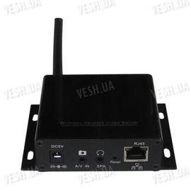 Универсальный одноканальный беспроводный сетевой IP сервер для трансляции в интернет видео со звуком с любых камер (модель NC6200), фото 1