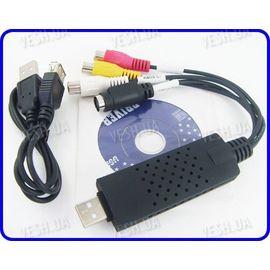 1 канальный видео USB преобразователь с аудио каналом для записи видео на компьютер EasyCAP USB 2.0, фото 1