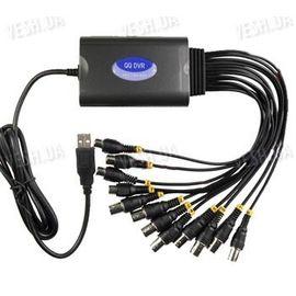 Профессиональный H.264 RealTime 8-ми канальный USB видеорегистратор с записью в CIF 160 к/c c 4-мя аудиовходами с поддержкой Windows 7 для компьютеров и ноутбуков (модель QQ DVR 8CIF4), фото 1