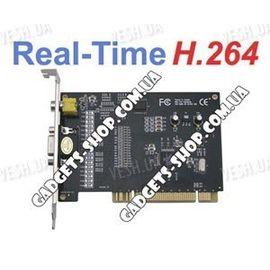 4-х канальная H.264 компьютерная PCI плата видеозахвата для CCTV камер + 4 звуковых канала (100 fps), фото 1