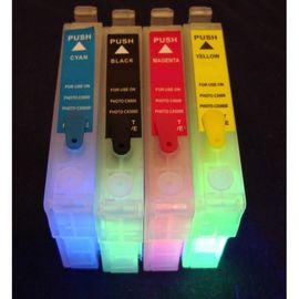 Картридж EPSON T0551-T0554 с невидимыми чернилами УФ UV (светятся в ультрафиолете), фото 1