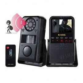 Многофункциональный 4 в 1 автономный охранный видеорегистратор с датчиком движения, сиреной на 120 dB, 2,4 дюймовым экраном и пультом ДУ (модель Kivos KVA01), фото 1