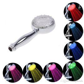 7-и цветный цилиндрический романтический душ с автоматически меняющимися цветами в зависимости от температуры воды и различными режимами распыления воды, фото 1