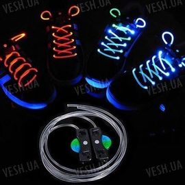 Светящиеся неоновые LED шнурки для кроссовок для вечеринок, клубов и дискотек, фото 1