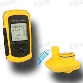 Портативный беспроводный сонар (эхолот, рыболокатор) для поиска рыбы (модель FF-100 wireless), фото 1
