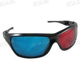 Красно - синие анаглифные 3D стерео очки в пластиковой оправе с дырочками в дужках (модель 3DM), фото 1