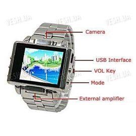 Мультимедийные многофункциональные часы с видеокамерой, MP3/MP4 плеером LCD экраном и 4 Gb памяти, фото 1