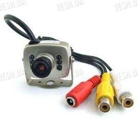 Цветная МИНИ видеокамера со звуком C-201 стандарт AV, 1/3 CMOS, 380 TVL, 3 LUX, фото 1