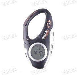 Многофункциональный 3 в 1 походный цифровой компас в виде карабина + термометр + часы для туристов и путешественников, фото 1