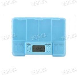 Портативная электронная аптечка - органайзер на 4 отсека - будет напоминать Вам о необходимости своевременного приёма лекарств, фото 1