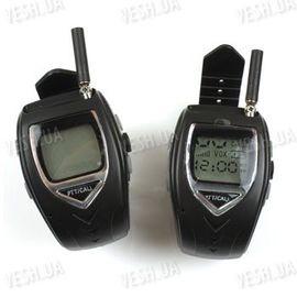 Комплект из 2-х раций Walkie Talkie в виде часов дальностью связи до 1000 метров и временем работы в режиме разговора - до 12 часов (модель RD-018), фото 1
