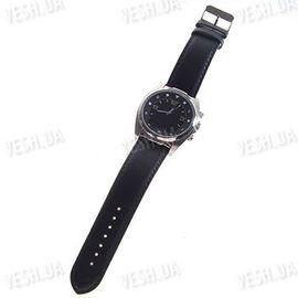Стильные механические bluetooth часы с определителем номера, виброзвонком и мини экраном черные, фото 1