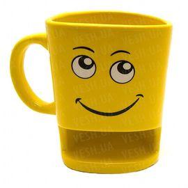 Чашка с отделением для печенья смайл, фото 1