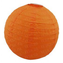 Декор подвесной Шар 35 см оранжевый, фото 1