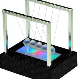 Шары Ньютона квадрат средний светящийся, фото 1