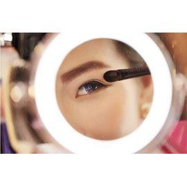 Двойное зеркало для макияжа с LED подсветкой 3X, фото 1
