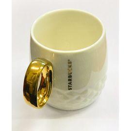 """Керамическая чашка """"Starbucks Gold"""". Белая (Уценка), фото 1"""