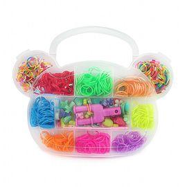 Резиночки для плетения Органайзер 500 шт Мишка, фото 1