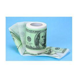 Туалетная бумага прикольная 100 долларов баксов, фото 1