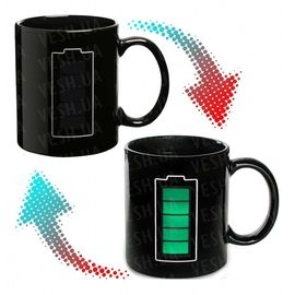 Чашка хамелеон Батарейка, фото 1