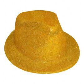 Шляпа детская Мафия блестящая золото, фото 1